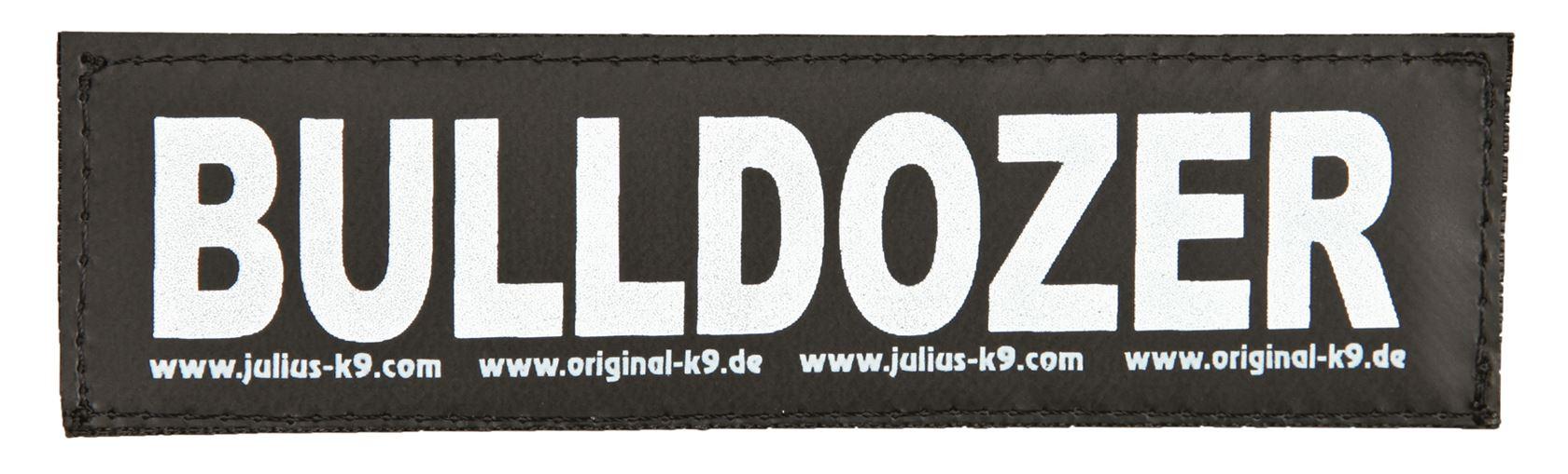 julius-k9 velcro sticker small bulldozer (2sts)