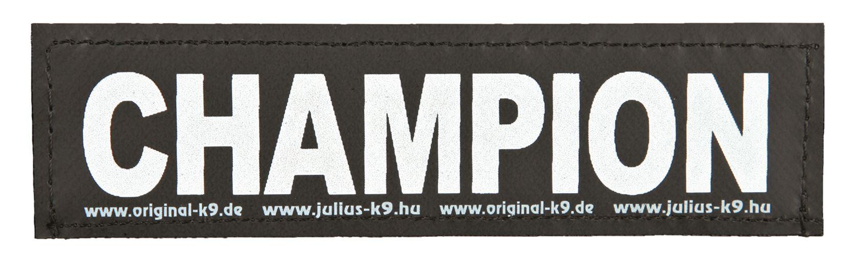 julius-k9 velcro sticker small champion (2sts)