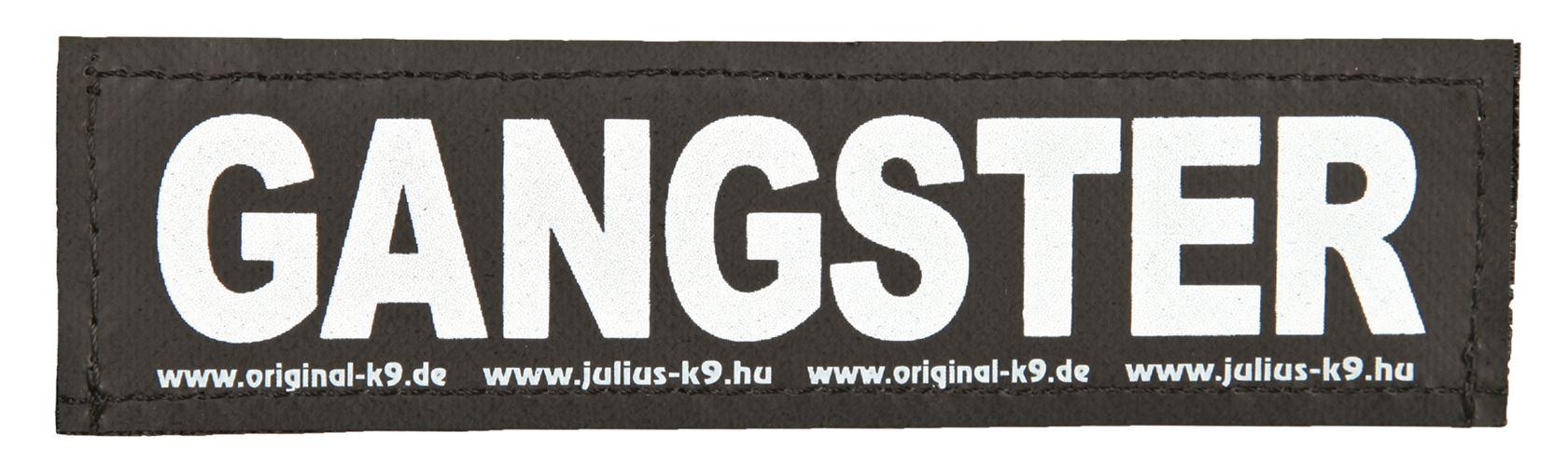 julius-k9 velcro sticker small gangster (2sts)