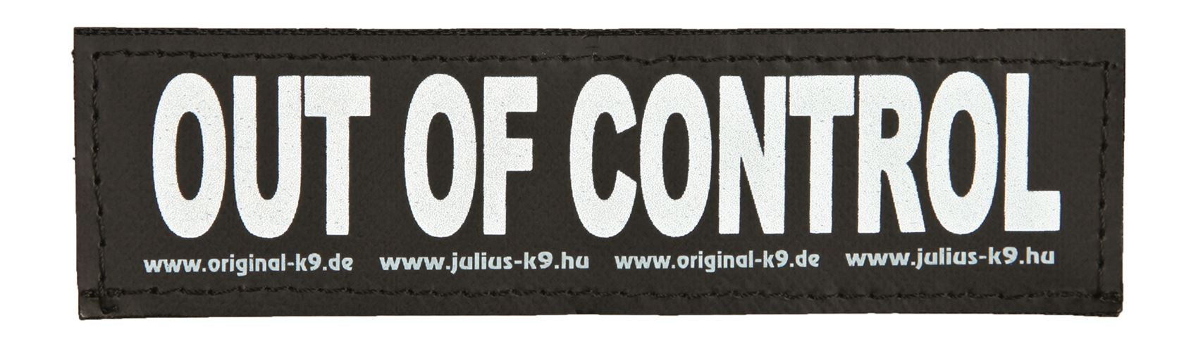 julius-k9 velcro sticker small out of control (2sts)