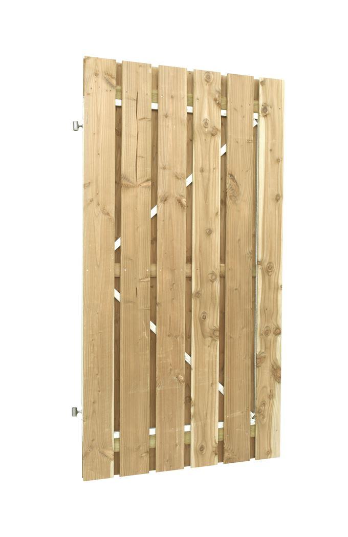 jumbodeur met uitgefreesd slotgat geschaafd vuren op verstelbaar stalen frame recht verticaal