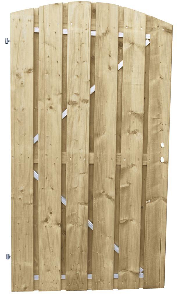 jumbodeur met uitgefreesd slotgat geschaafd vuren op verstelbaar stalen frame toog verticaal