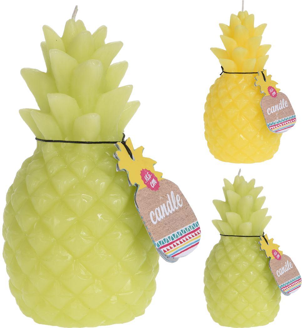 kaars ananas model (2 kleuren ass.)