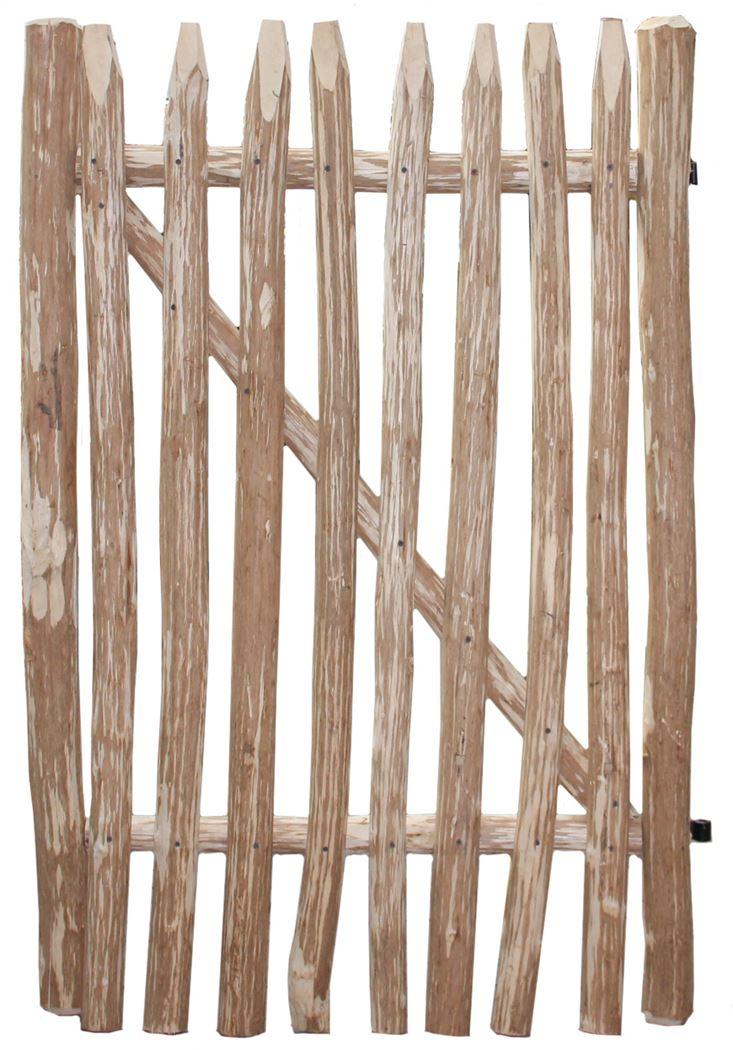 kastanjehouten poort incl.beslag (latafstand 7/8cm)