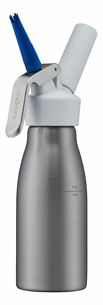 kayser slagroomapparaat inox/wit