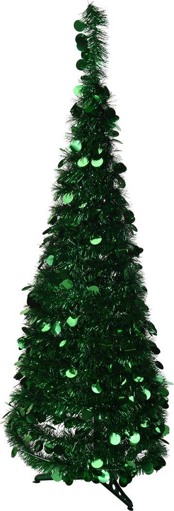 kerstboom lametta groen