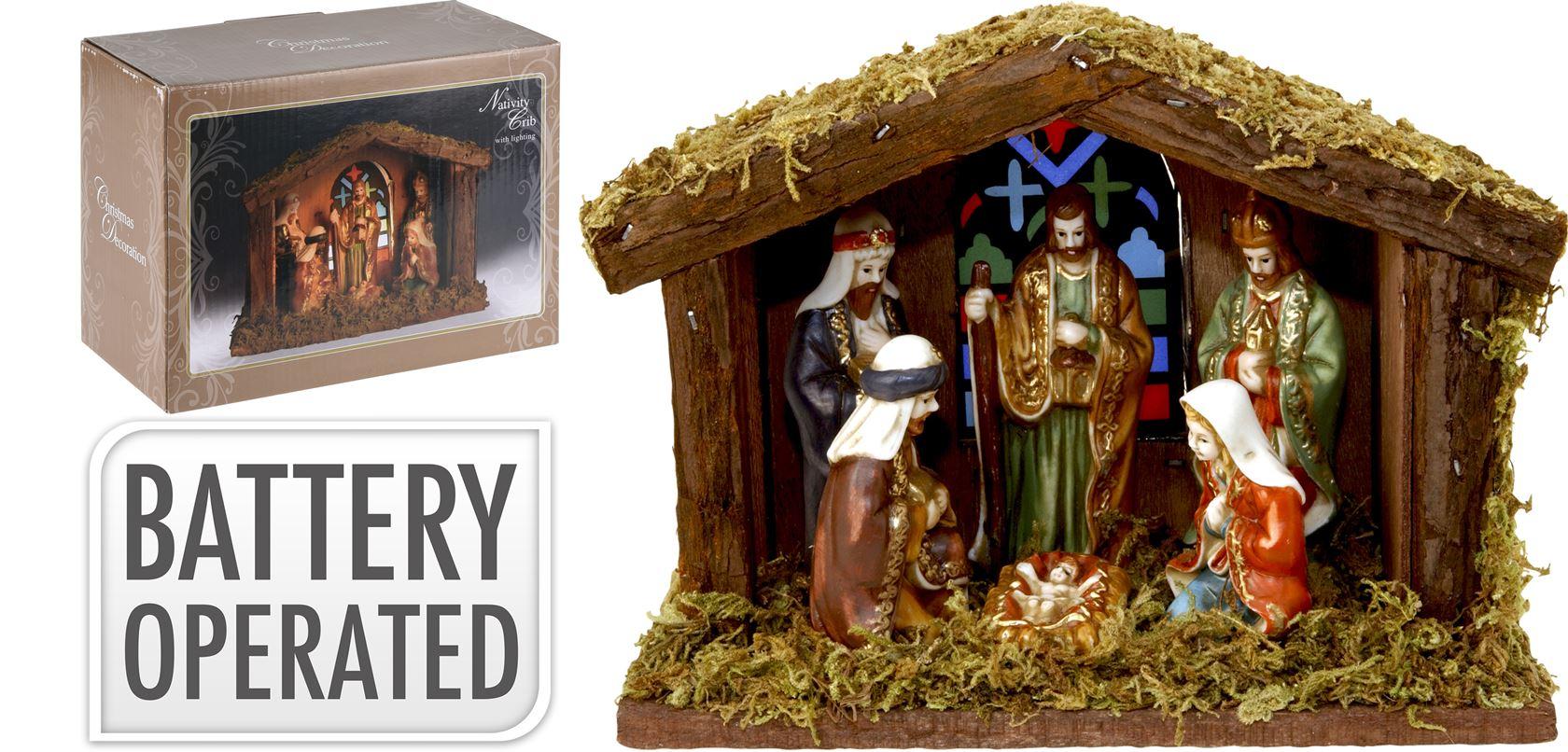 kerststal met 6 figuren