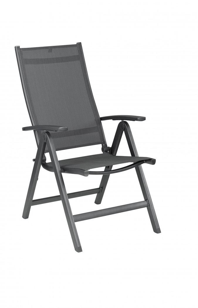 kettler easy fauteuil verstelbaar antraciet / antraciet