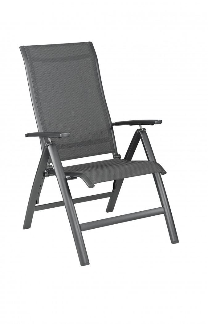 kettler legato curve fauteuil verstelbaar antraciet / antraciet