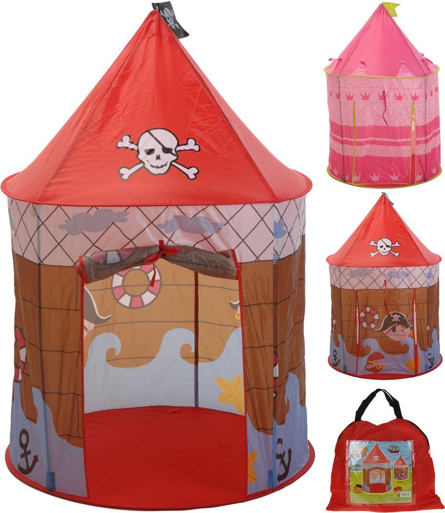kinderspeeltent prinses/piraat (2ass.)