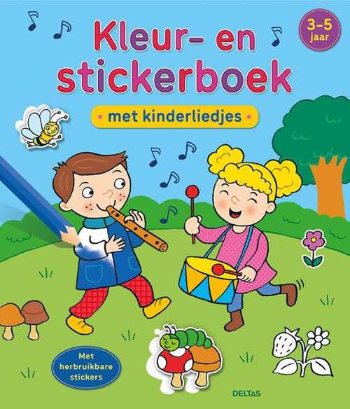 kleur- en stickerboek met kinderliedjes (3-5 j.)