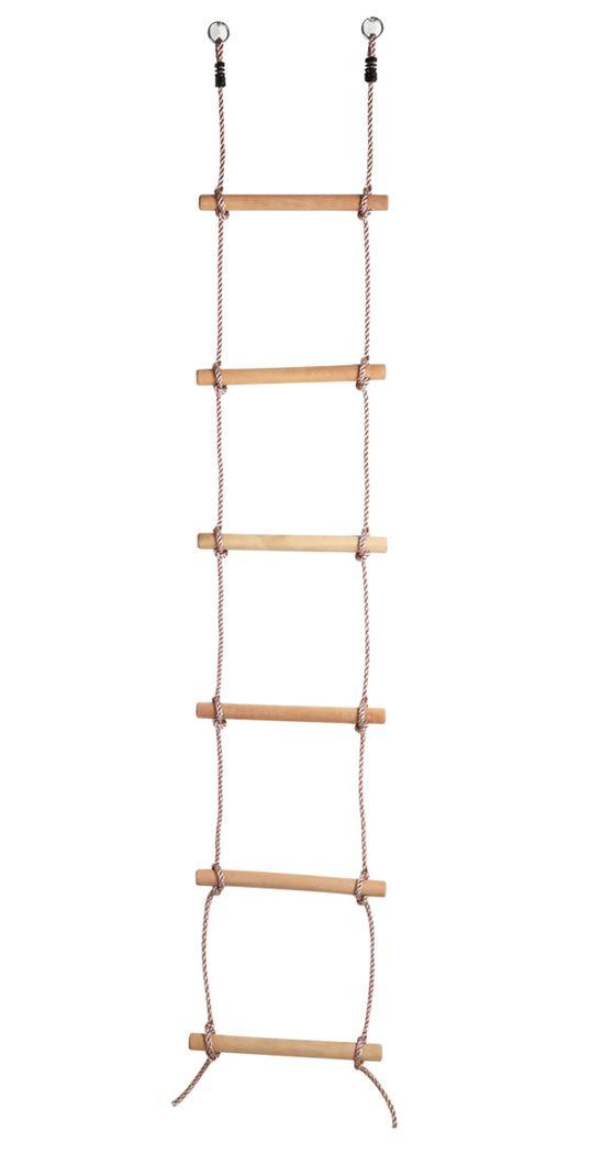 klimladder met 6 houten treden