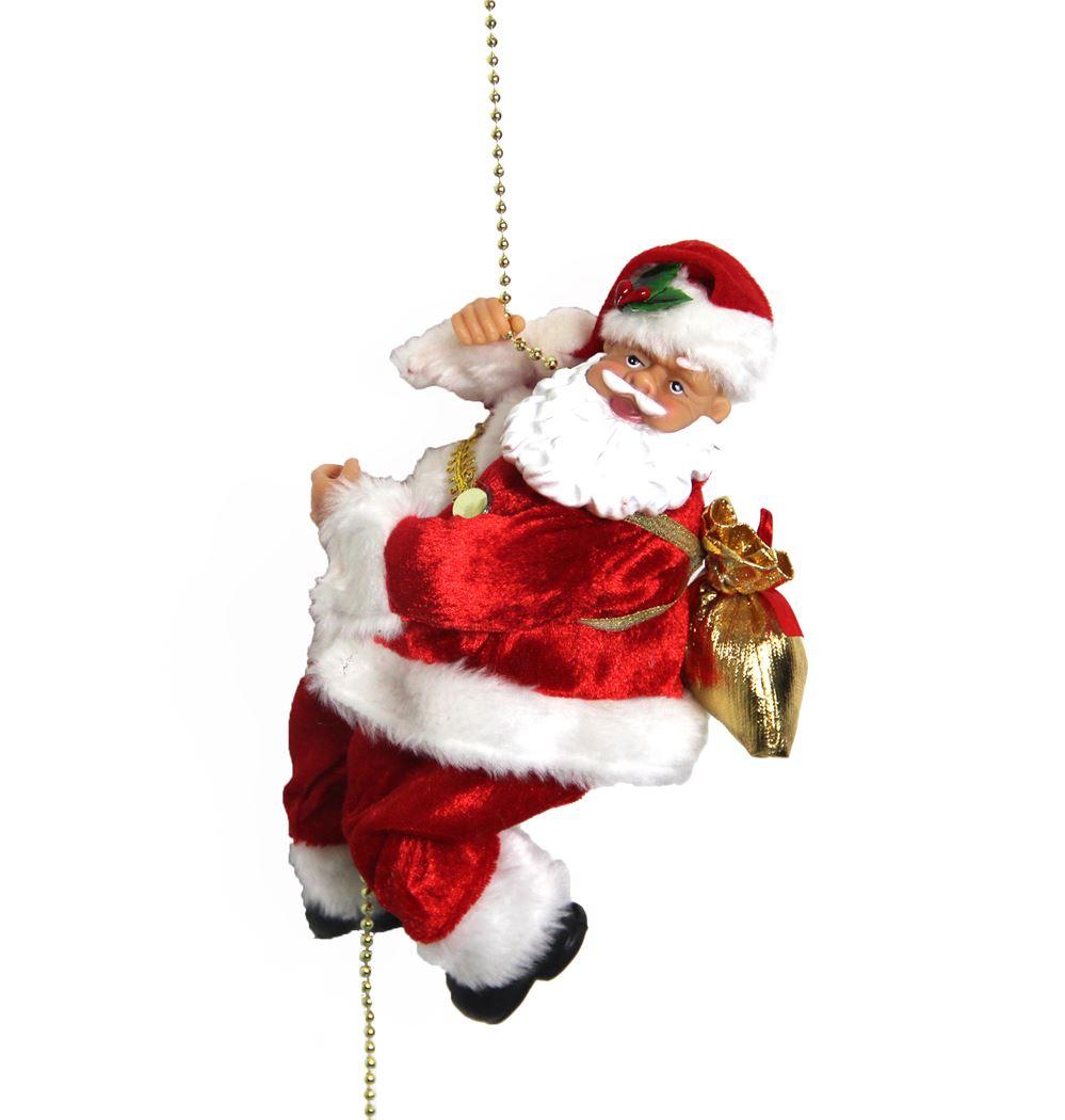 klimmende kerstman met muziek (b/o)