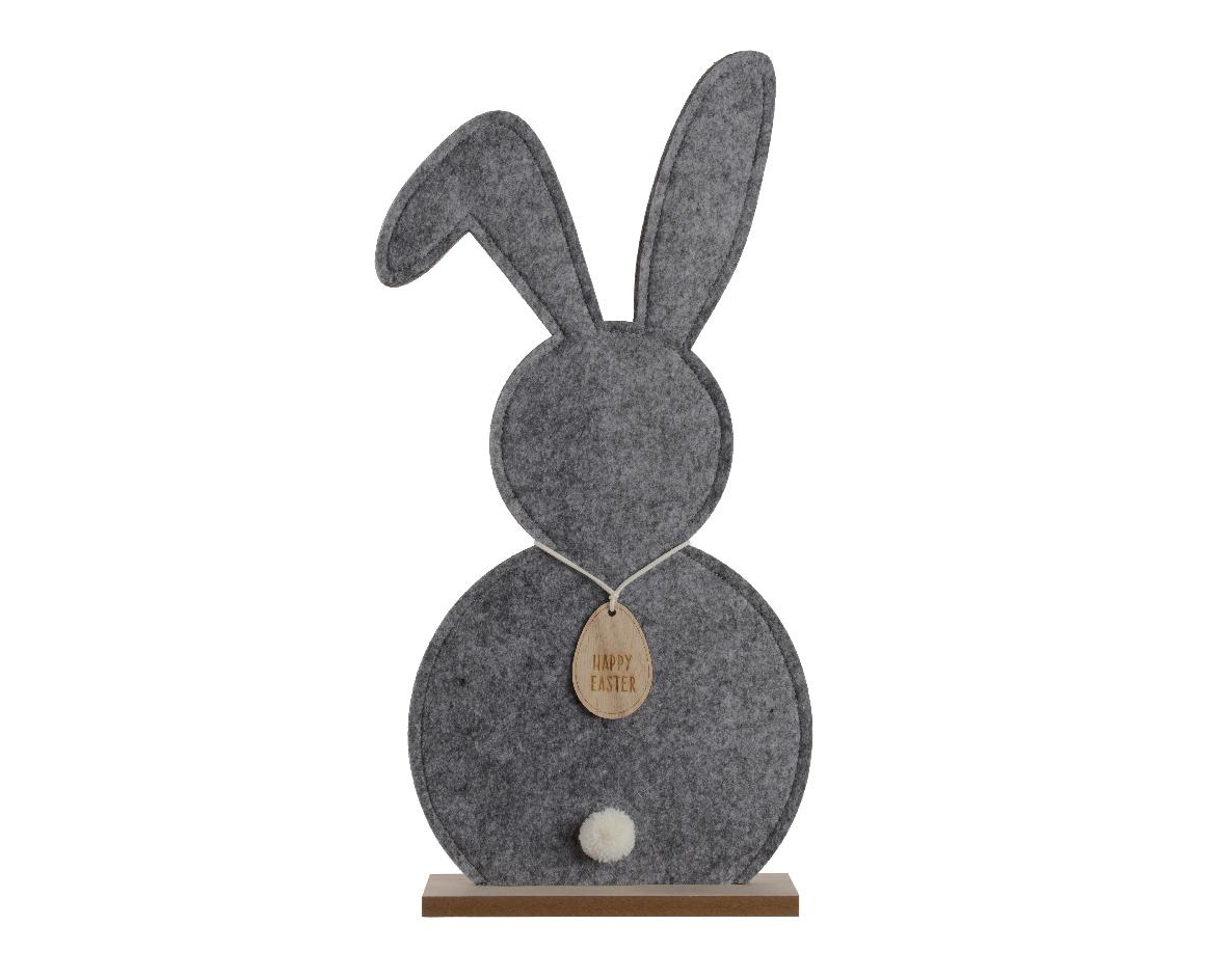 konijn vilt voet grijs