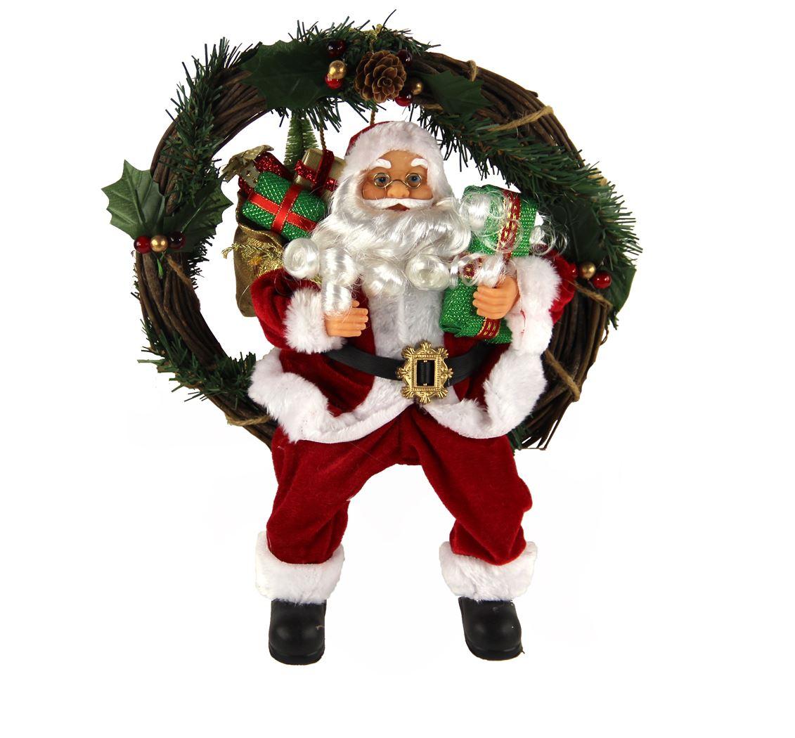 krans met kerstman (red coat)