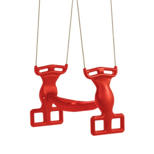 kunststof duo schommel pp-touw rood