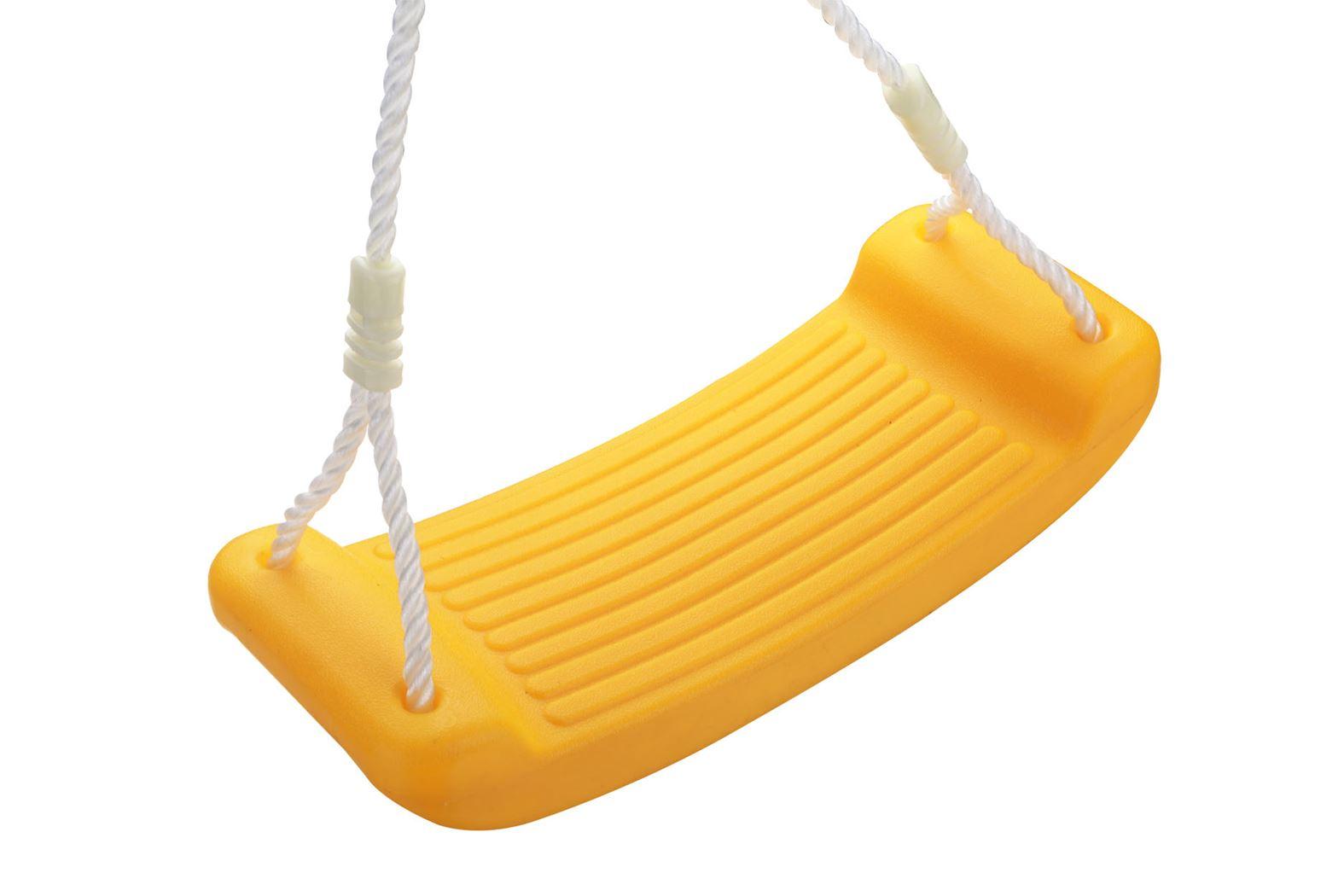 kunststof schommelzitje geel