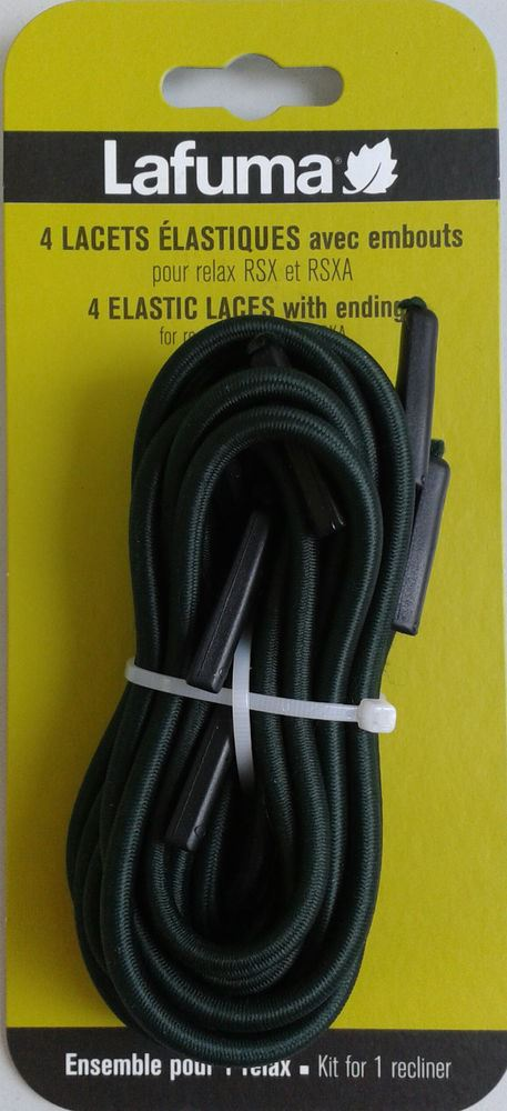 lafuma elastic laces with endings for rsx noir
