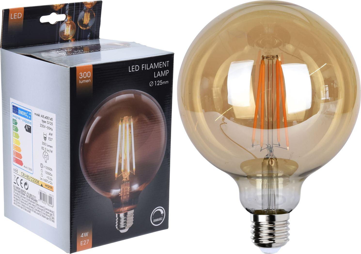 led lamp g125 amber dimbaar