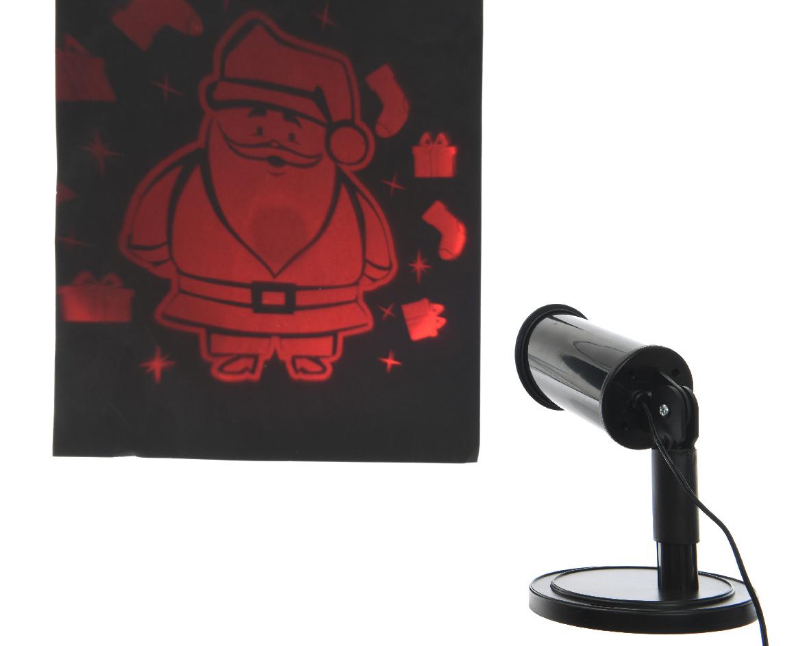 led projector kerstman buiten rood
