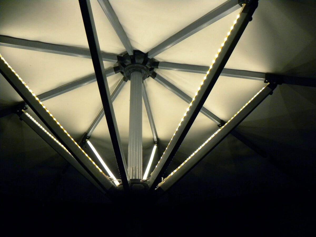 led strips parasol + batterij & lader (lp850b) warmwit