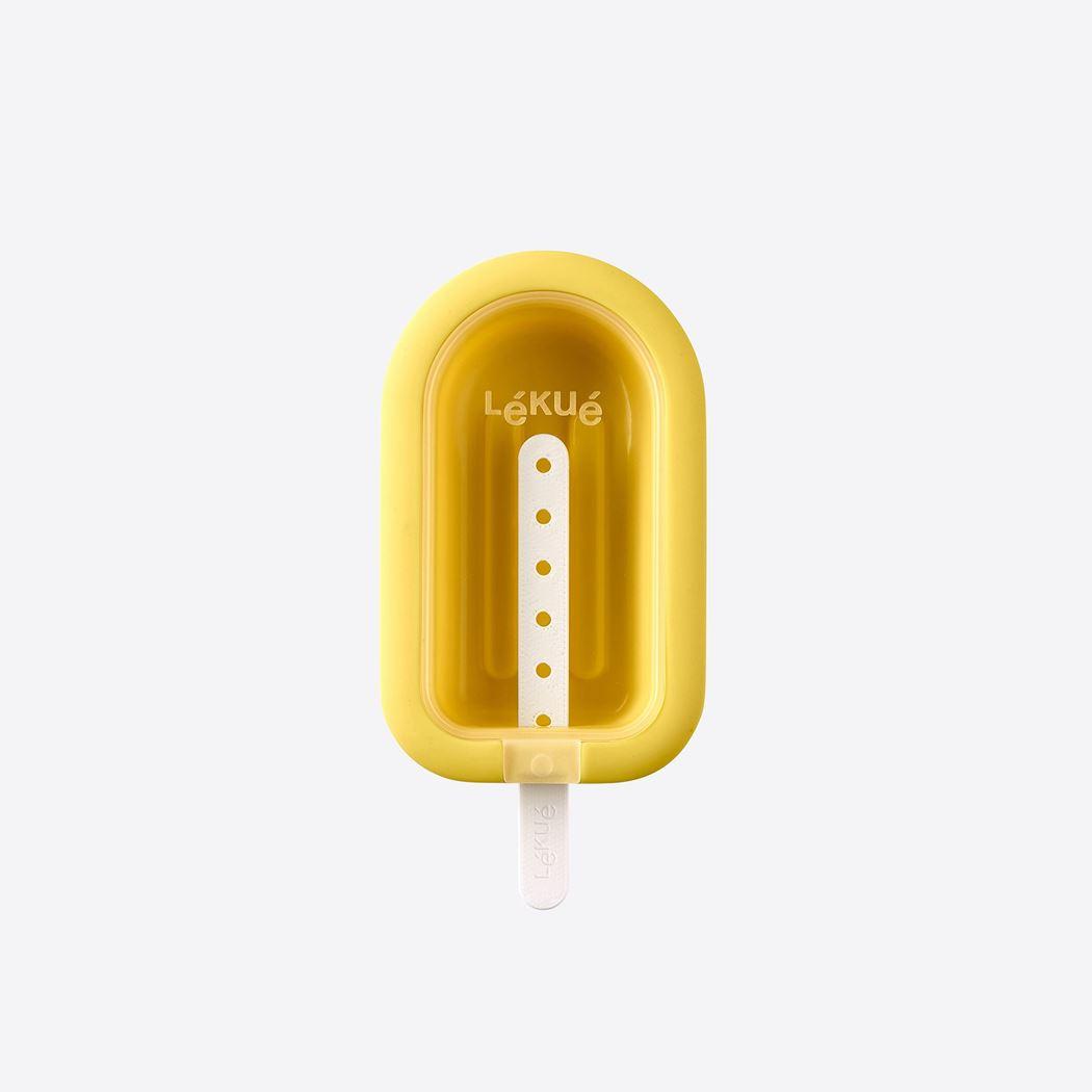 lékué ijsjesvorm uit silicone en kunststof geel