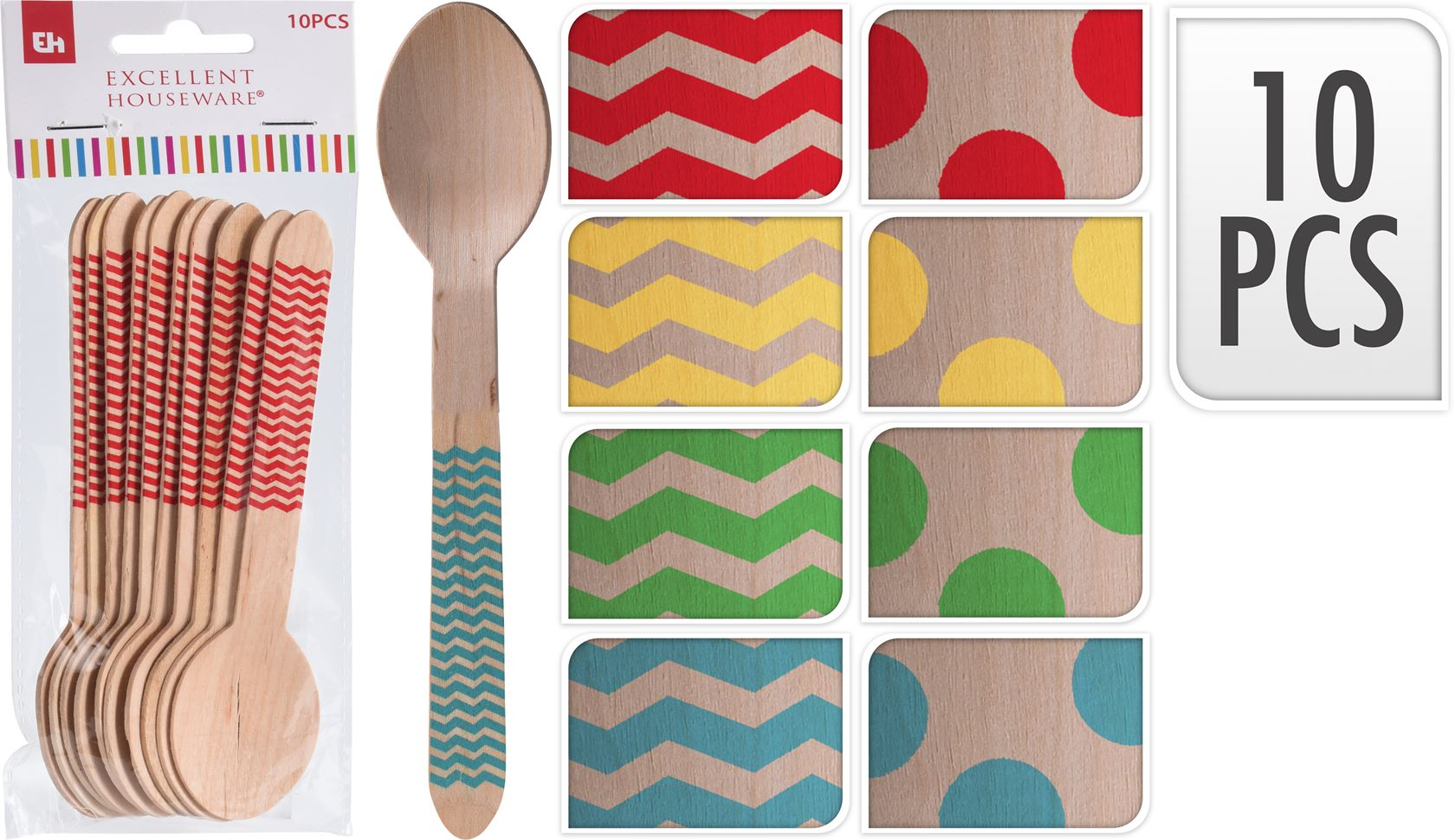 lepel hout (10sts)
