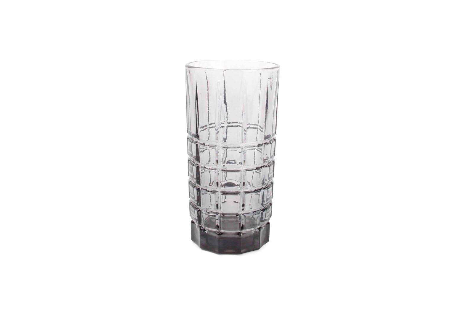 longdrinkglas vierkant grijs victoria (4sts)