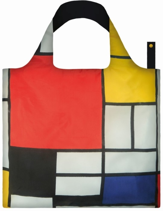 loqi bag museum collection - composition with red, yellow, blue and black