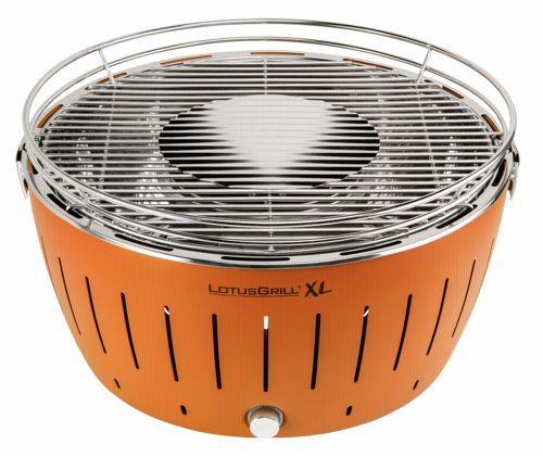 lotusgrill xl hybrid tafelbarbecue oranje