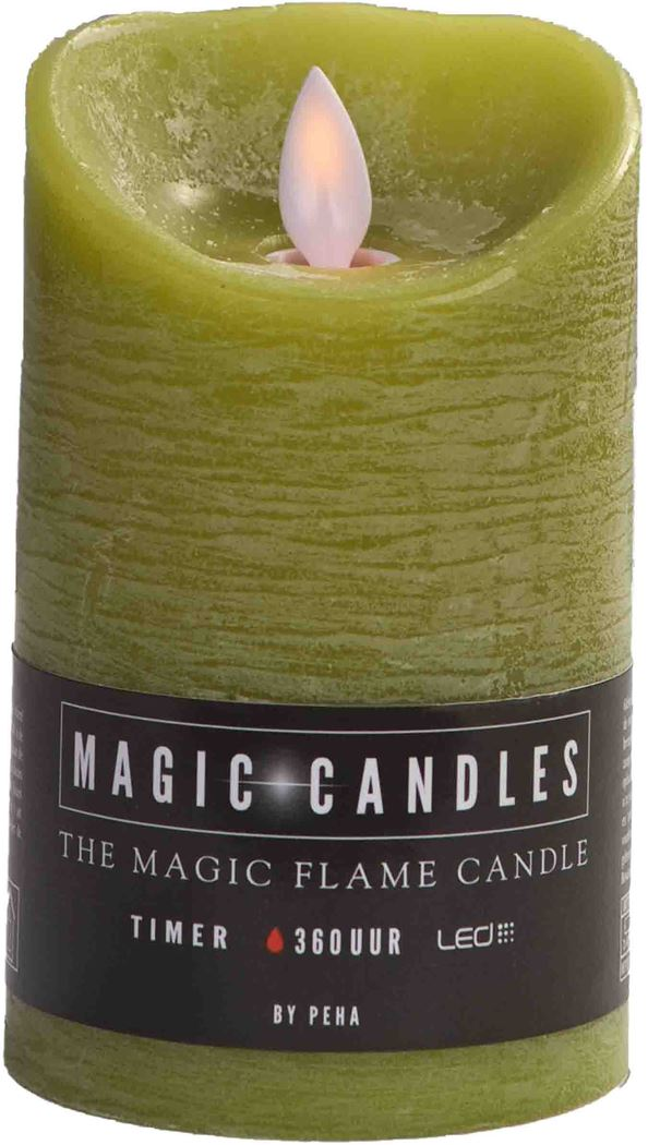 magic flame kaars limegroen