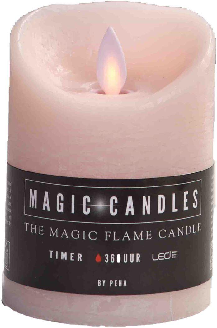 magic flame kaars roze