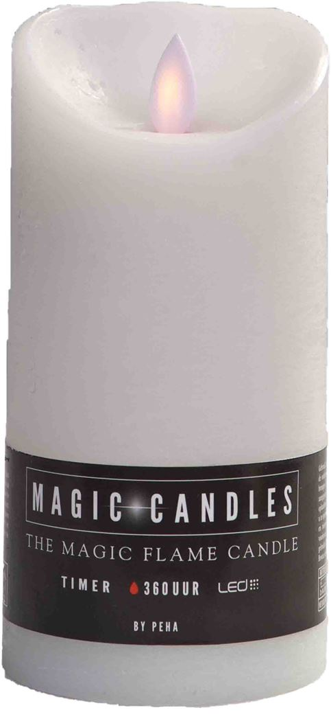 magic flame kaars wit