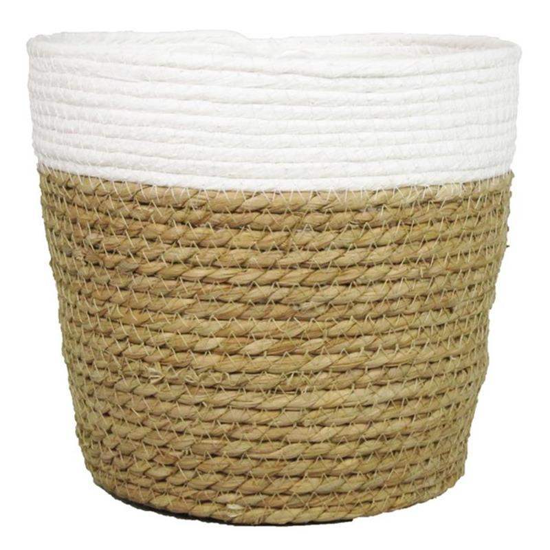 mand met witte rand met plastic liner