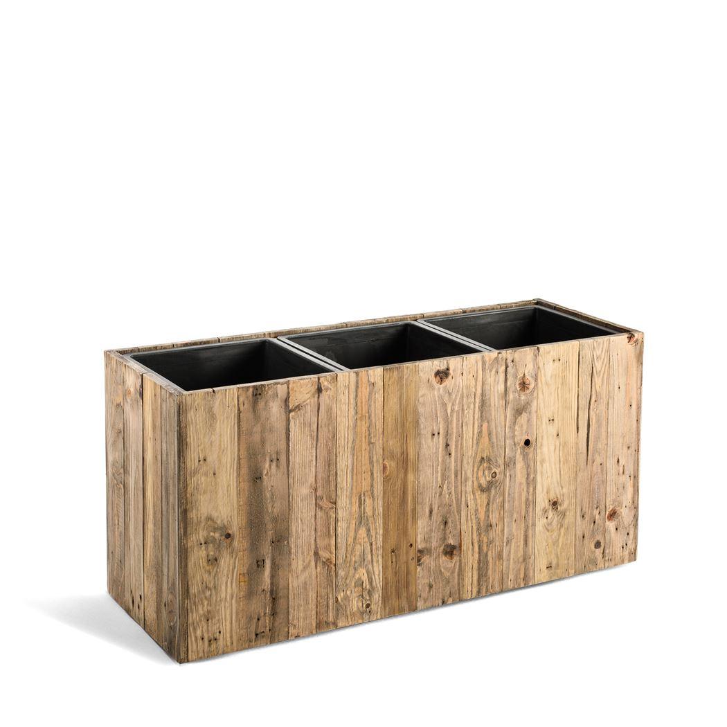 marrone box dark flame wood large
