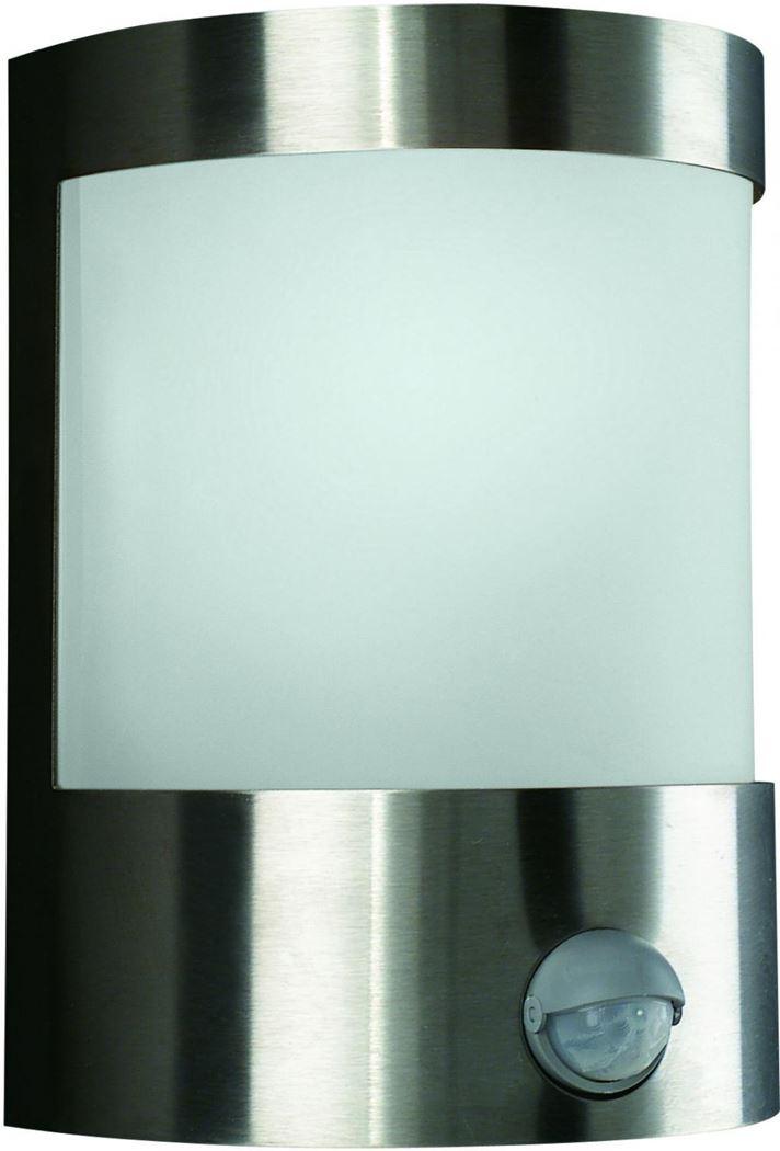 massive vilnius wall lantern inox excl. 1x60w 230v