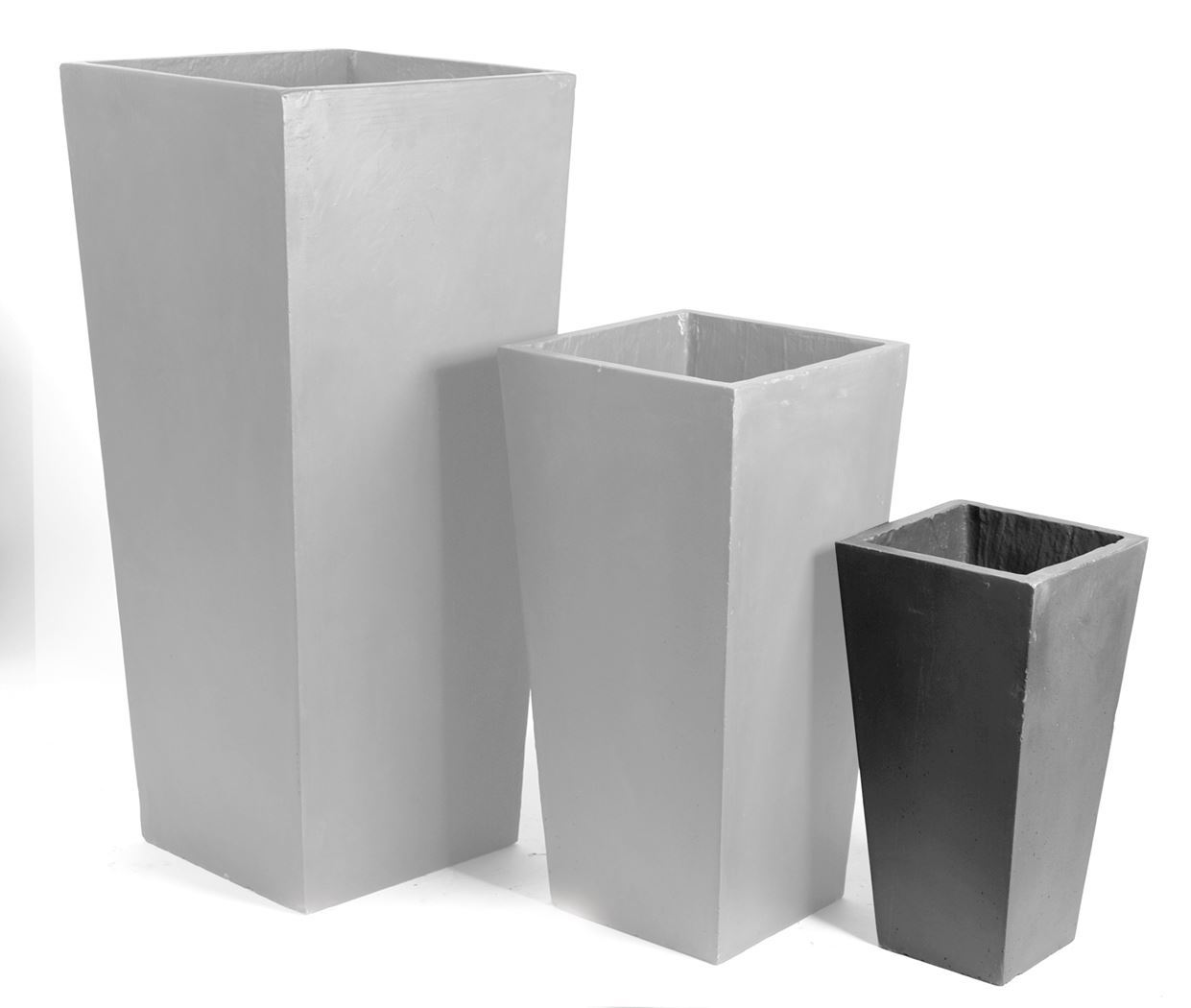 clayfibre square vase big lead