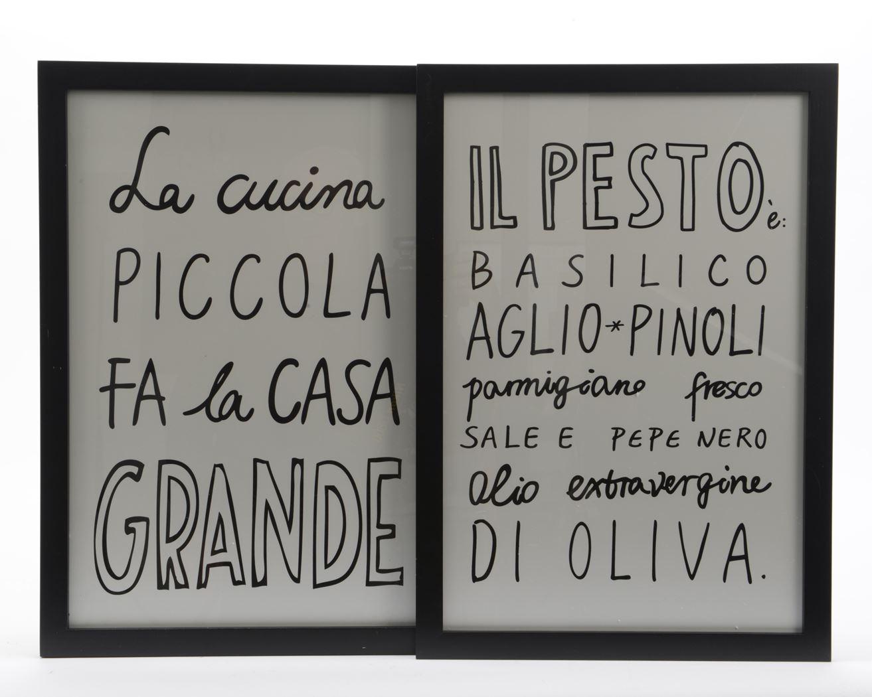 mdf houten frame met tekst zwart (2ass.)