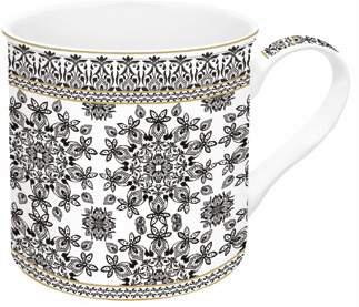 melplus mug geometric black & white