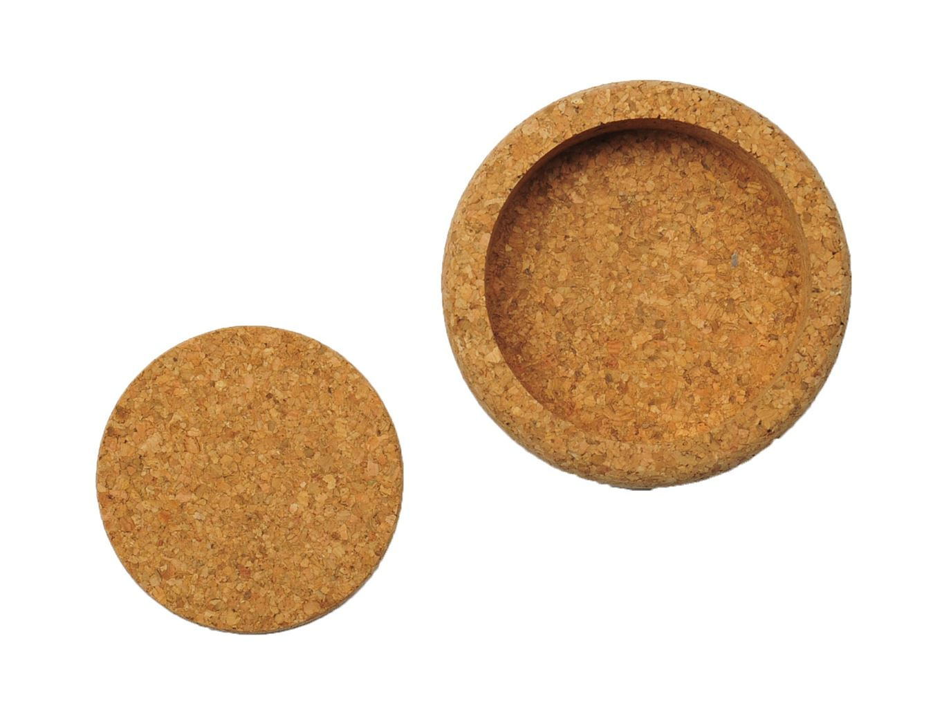 mesapiu coasters kurk 5mm met fleshouder natural (6sts)