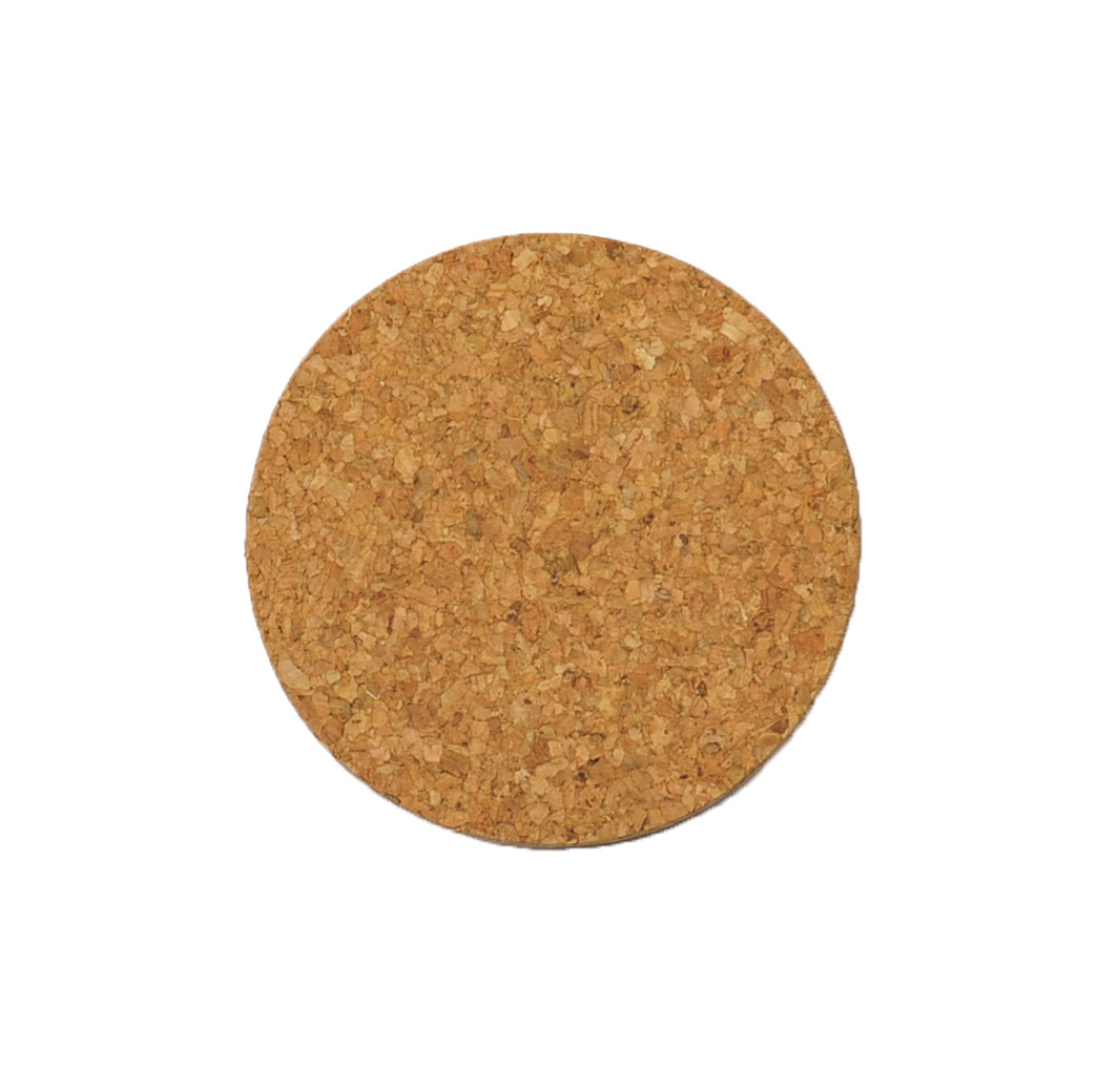 mesapiu coasters kurk rond natural 3mm (6sts)