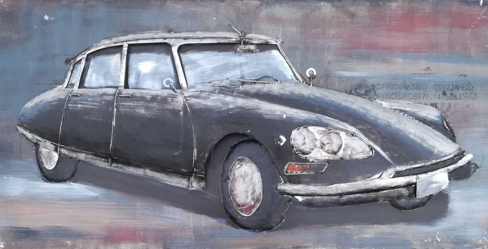 metal painting french car indoor