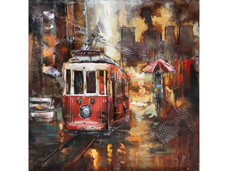 metal painting tramway small indoor