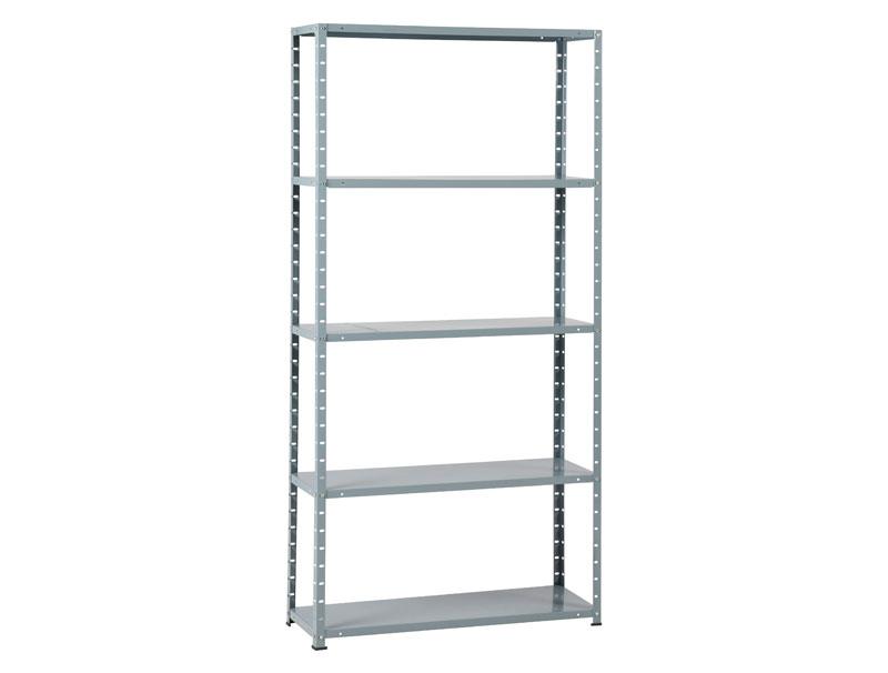 metal rack 50 met 5 legborden grijs