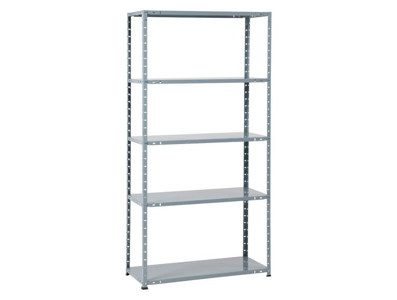 metal rack 60 met 5 legborden grijs