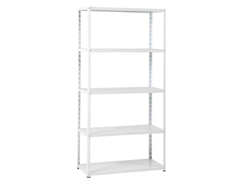 metal rack 60 met 5 legborden wit
