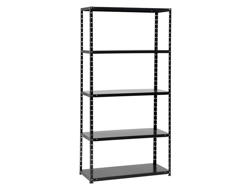 metal rack 60 met 5 legborden zwart