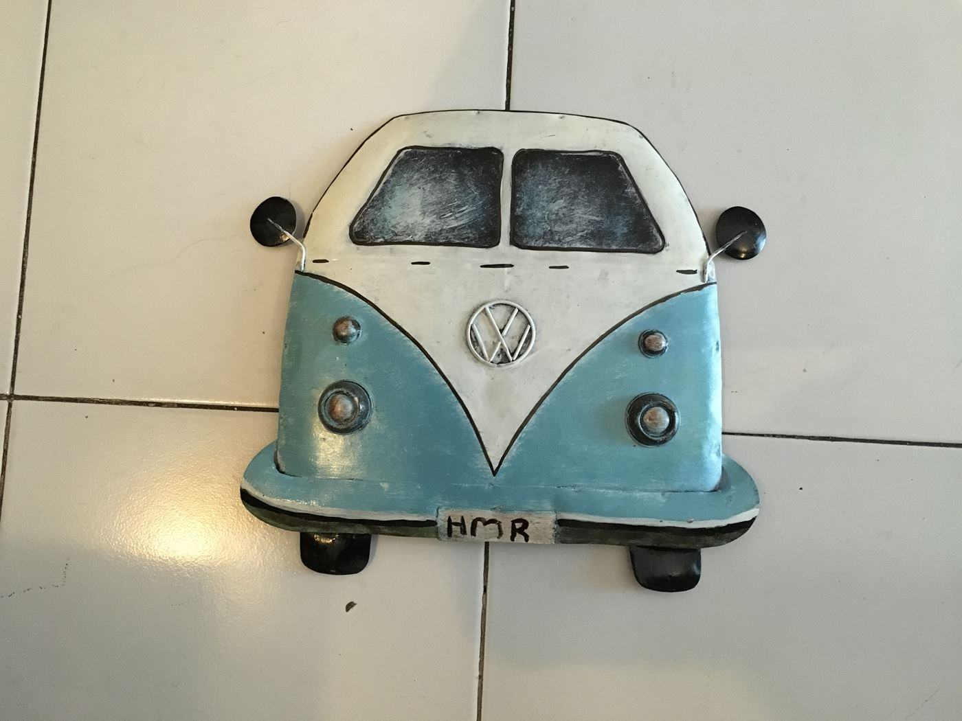 metalen deco 'vw'