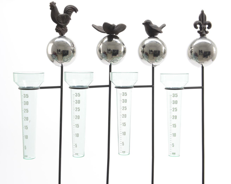 metalen regenmeter bruin (4ass.)
