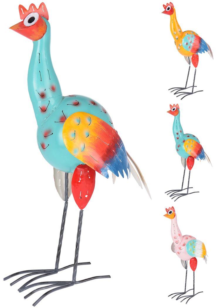 metalen vogel (3 kleuren ass.)